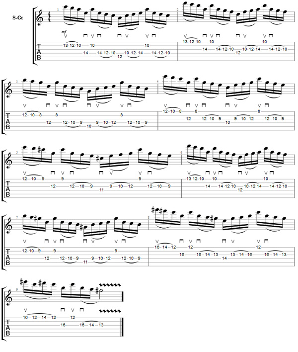 Guitar metal guitar tabs : Neo Classical Sequence - Metal Guitar Techniques